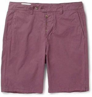 Shorts: Straight-leg brushed-cotton shorts
