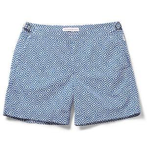 Shorts: Bulldog mid-length printed swim shorts