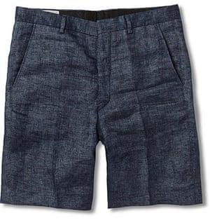 Shorts: Straight leg linen short