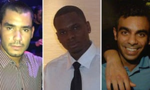 Grant Cameron, Karl Williams and Suneet Jeerh, who have been released in Dubai under Ramadan amnesty