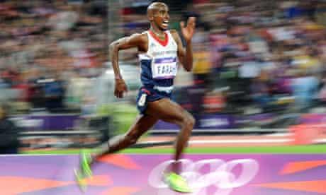 Mo Farah wins 10000m London 2012