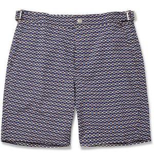 paul smith: Mid length printed swim shorts