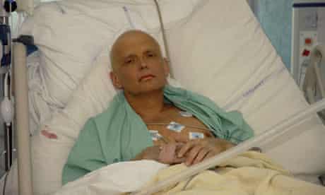 Alexander Litvinenko in a London hospital in 2006