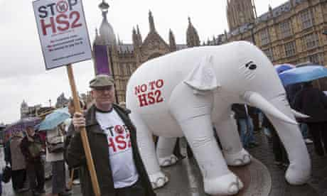 Protest against the government's new HS2 high speed rail project, London, Britain - 16 Jul 2012