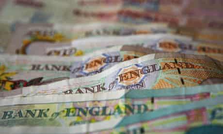 Pile of british money