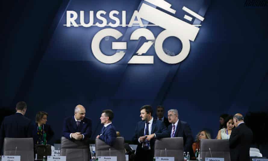 The G20 finance ministers' meeting in Moscow.