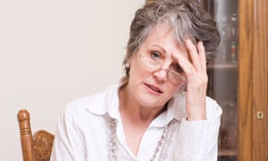 older woman stressed