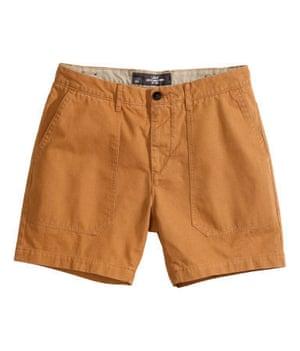 Budget shorts: Dark yellow shorts