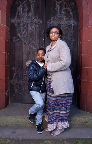CofE: Natasha Harris and her son Cairo Odaro