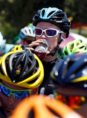 Tour de France stage 3: Team Sky rider Froome cycles in the pack
