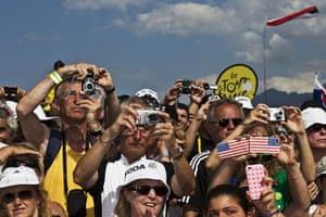 Tour de France stage 3: Fans take pictures of the riders