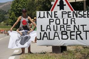 Tour de France stage 3: Fans stand along the road