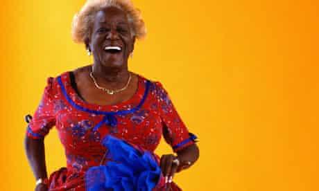 Older lady dancing