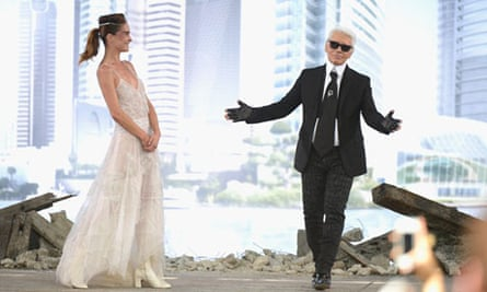 Chanel couture show: Karl Lagerfeld