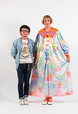 Central Saint Martins fashion student Wataru Tominaga with Grayson Perry