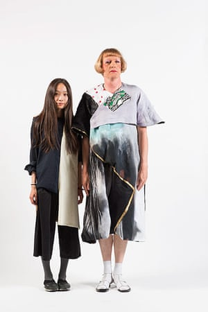 3rd prize winner Coco Kwok with Grayson Perry