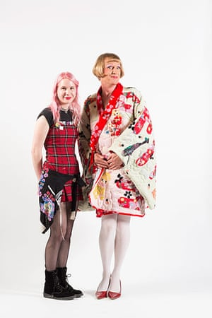 2nd prize winner Milligan Beaumont with Grayson Perry