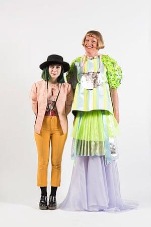 Central Saint Martins fashion student Dilara Findikoglu with Grayson Perry
