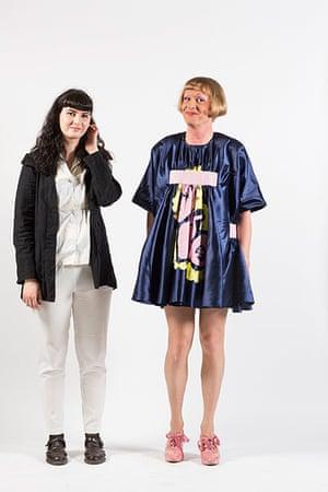 Central Saint Martins fashion student Amanda Montenovo with Grayson Perry