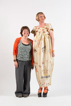 Central Saint Martins fashion student Gill Goldie-Scott with Grayson Perry