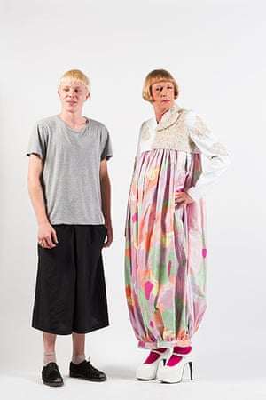 Central Saint Martins fashion student Ollie Thame with Grayson Perry