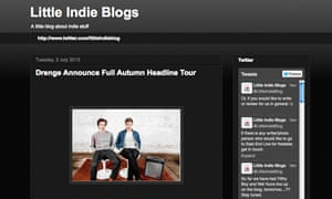 Blog of the week: Little Indie Blogs | Music | The Guardian