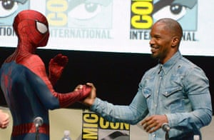Comic-con: Jamie Foxx, Spiderman