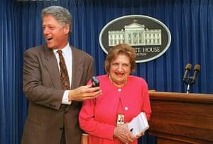 Helen Thomas: Bill Clinton and Helen Thomas