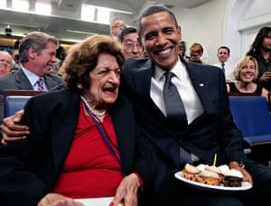 Helen Thomas: FILE - In this Aug. 4, 2009, file photo, veteran White House reporter Helen
