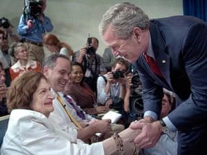 Helen Thomas: George W. Bush and Helen Thomas