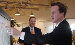 David Cameron and the Google boss Eric Schmidt