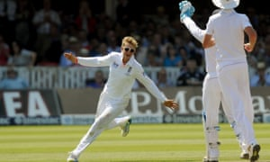 England's Joe Root celebrates taking the wicket of Australia's Michael Clarke, caught behind by Alastair Cook for 51.