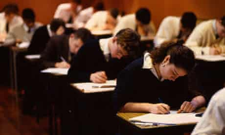 GCSE exam pupils
