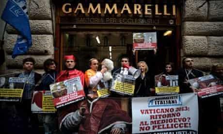 Italian animal-rights activists protest