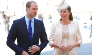 Prince William with the Duchess of Cambridge, who has gone into labour