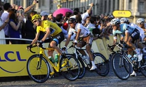 Chris Froome during the last stage of the 2013 Tour de France in Paris