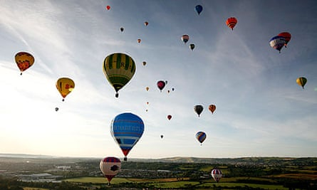 The skies over Bristol are filled with Hot Air Balloons