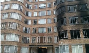 landmark art deco building in london damaged by fire art and