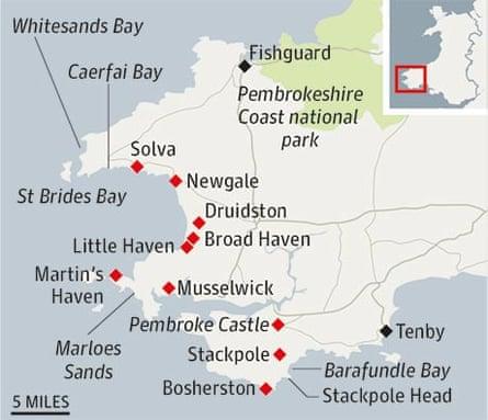 Map Pembroke coast 460