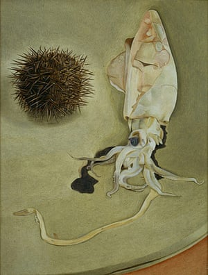 Aquatopia: Lucian Freud: Still Life with Squid and Sea Urchin, 1949