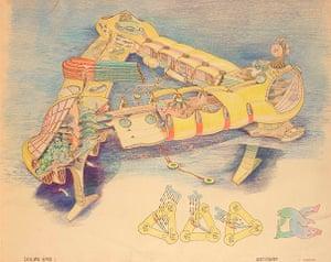 Aquatopia: Ant Farm: DOLØN EMB 1(drawing by Curtis Schreier), 1975