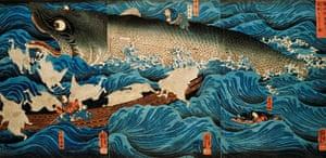 Aquatopia: Utagawa Kuniyoshi: The Rescue of Minamoto no Tametomo by Goblins (detail),