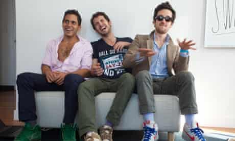 Rap Genius co-founders Rap Genius co-founders Mahbod Moghadam, Ilan Zechory and Tom Lehman