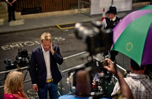 royal baby watch: media outside Lindo Wing of Queen Mary's Hospital Paddington