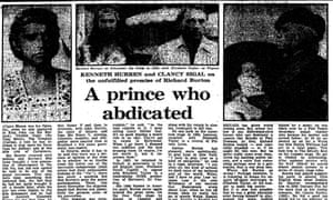 Tributes to Richard Burton, Guardian 1984