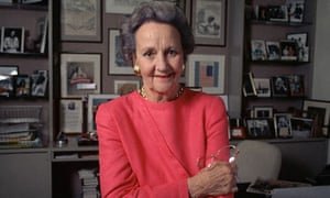 Newspaper executive and late doyenne of the Washington Post, Katharine Graham, in 1986