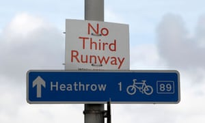 A protest sign near Heathrow Airport