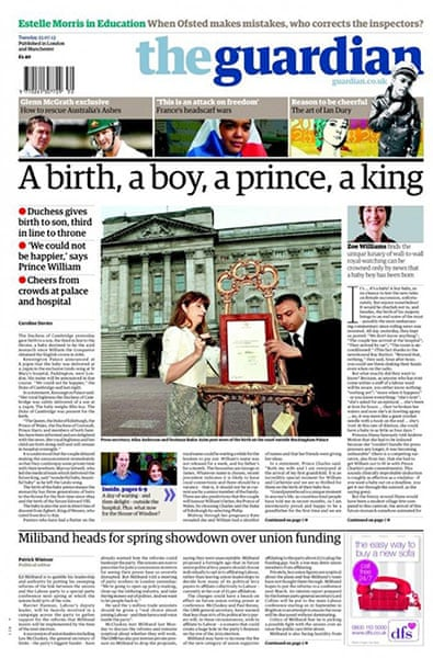 716a401420924 Royal baby: the newspaper front pages - in pictures | Media | The Guardian
