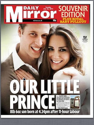 Royal baby front pages : Royal baby front pages