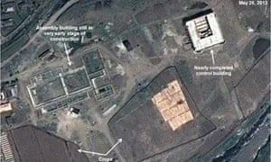 One of the satellite images apparently showing a halt in construction at the Tonghae missile site.